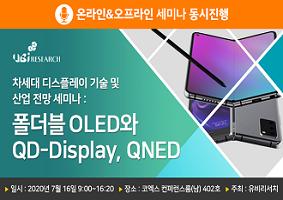 차세대 디스플레이 기술 및 산업 전망 세미나 : 폴더블 OLED와 QD-Display, QNED
