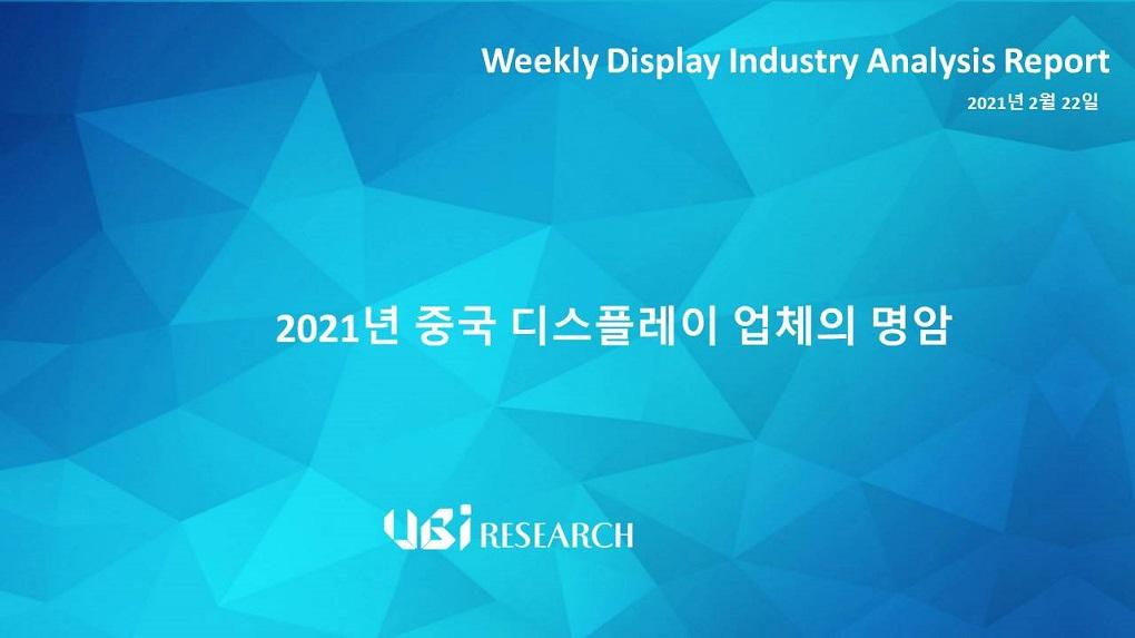 2021년 중국 디스플레이 업체의 명암