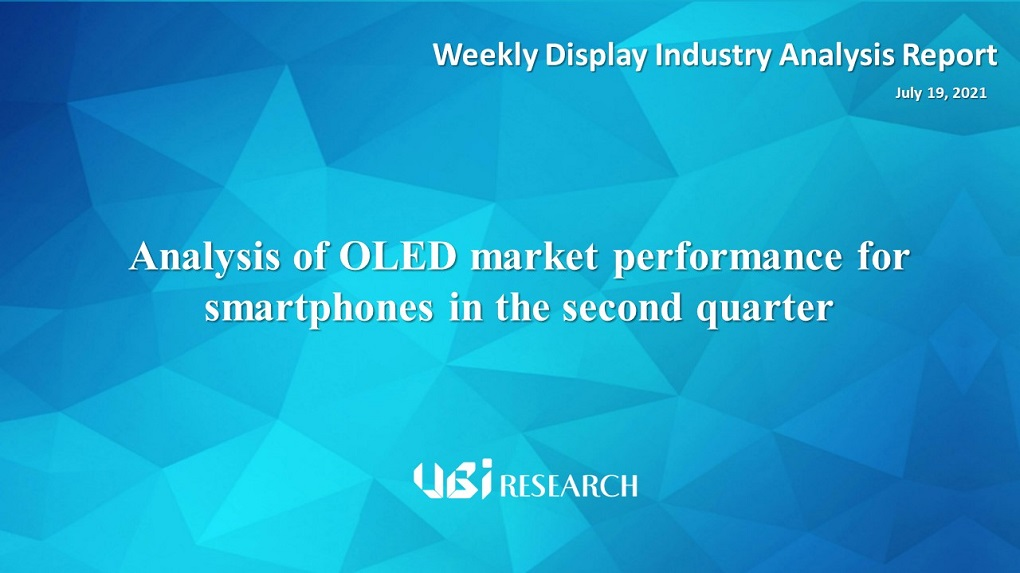 Analysis of OLED market performance for smartphones in the second quarter